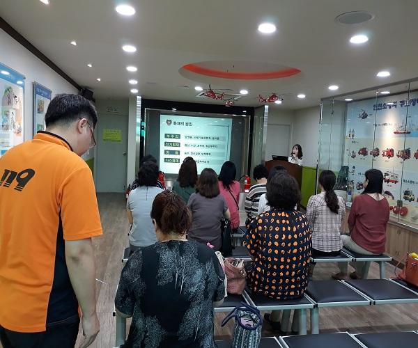 인천광역시영양사회, 8월 수행요원 심화교육 소방안전교육 개최