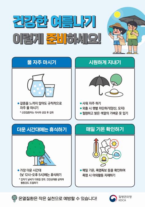 올 여름 이른 더위 예상, 온열질환 주의해야